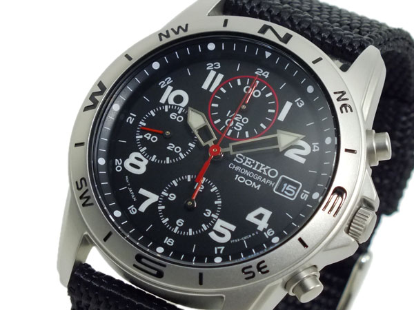 セイコー SEIKO クロノグラフ メンズ 腕時計 SND399P ブラック