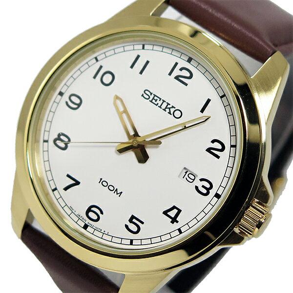 セイコー SEIKO クオーツ メンズ 腕時計 SUR160P1 ホワイト
