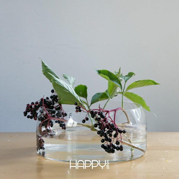 HAPPY sthlm SILO flower bowlHAPPY sthlm サイロ ガラスボウル・花瓶(φ20.5cm/H8.5cm)