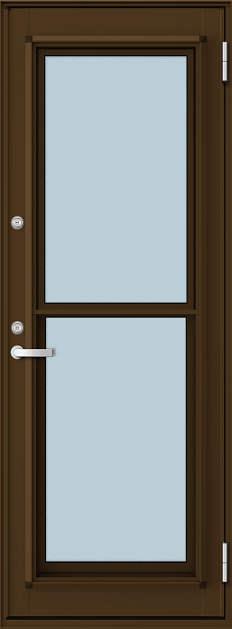 YKKAP勝手口 通風ドア フレミングJ仕様 複層ガラス[2シリンダー仕様] 一本格子:[幅780mm×高1830mm]