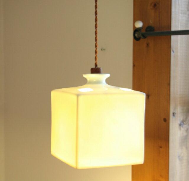 ペンダントライト 照明 led 【HOM BOX(ねじりコード)】 LED付属 天井照明 インテリア照明 照明器具 おしゃれ お洒落 かわいい 有田焼磁器 2点購入で送料無料 店舗照明 リノベーション照明 リフォーム照明