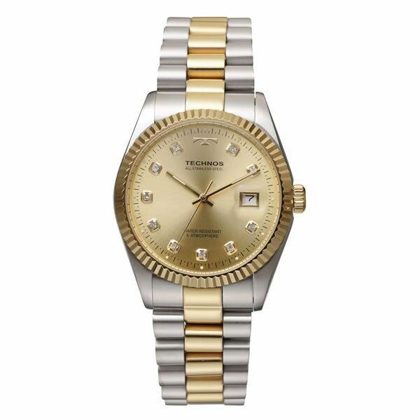 テクノス メンズ腕時計 T9604TC(コンビ)