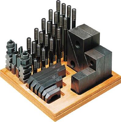 【代引不可】【メーカー直送】 スーパーツール【ツーリング・治工具】 クランピングキット(M12)T溝:16 S1612CK (1762061)【ラッピング不可】