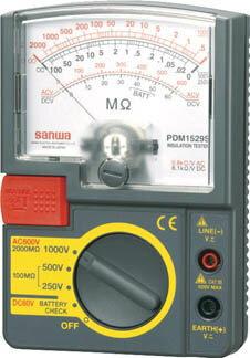 【代引不可】【メーカー直送】 三和電気計器【計測機器】 アナログ絶縁抵抗計 1000V/500V/250V PDM1529S (4239679)【ラッピング不可】