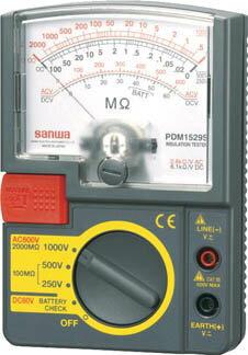 【代引不可】【メーカー直送】 三和電気計器【計測機器】 アナログ絶縁抵抗計 500V/250V/125V PDM5219S (4239687)【ラッピング不可】
