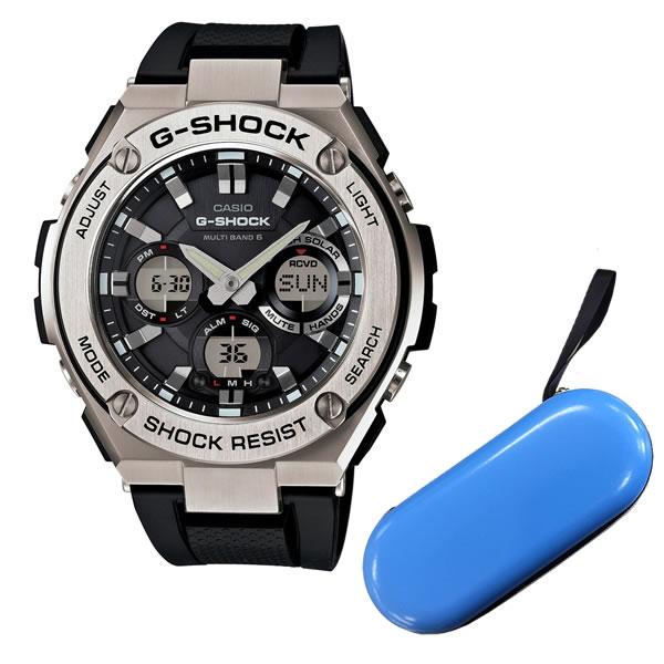 【ブルー1本用時計ケース付】[カシオ]CASIO 【腕時計】GST-W110-1AJF G-SHOCK G-STEEL 世界6局対応電波ソーラー  メンズ【国内正規品】