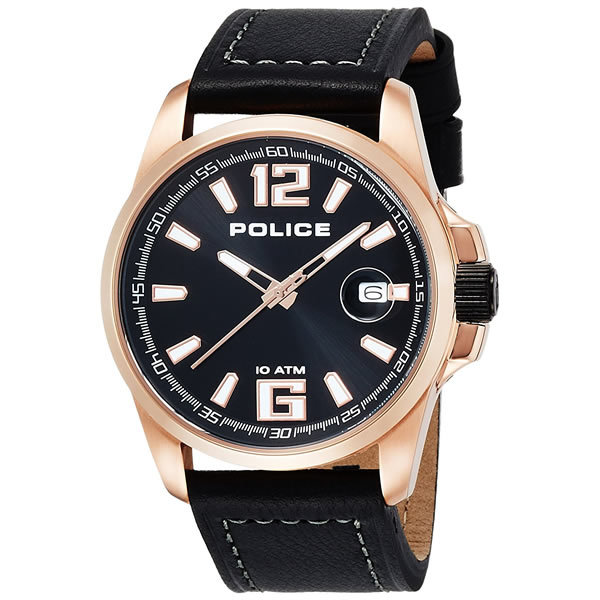 POLICE(ポリス) メンズ 腕時計 LANCER(ランサー) 12591JVSR-02 レザーベルト(牛革 クオーツ アナログ)(正規輸入品)