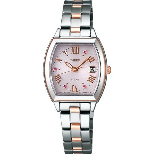 【国内正規品】 【腕時計】 AGED710 WIREDf[ワイアードエフ]【限定モデル】【ソーラー ステンレスバンド アナログ レディース】