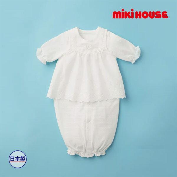 ミキハウス【MIKI HOUSE】(ベビー)【夏用】レースエプロン付き♪お花模様のツーウェイミニ(50cm-70cm)