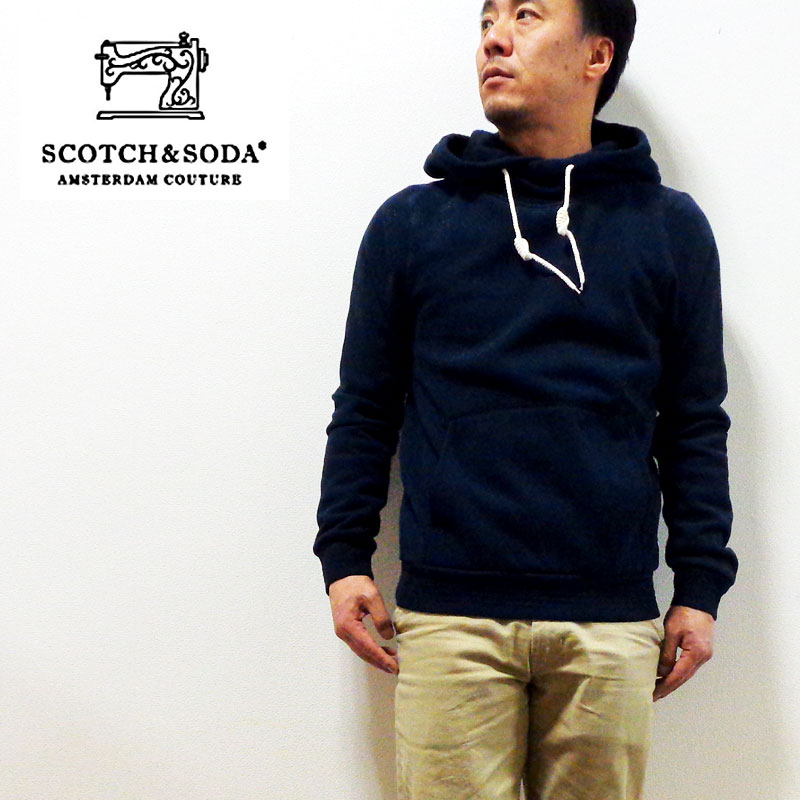 SCOTCH&SODA(スコッチ&ソーダ)HOME ALONE TWISTED HOODIE DESSIN A クロスフードパーカー正規代理店経由[282-13414/13415]