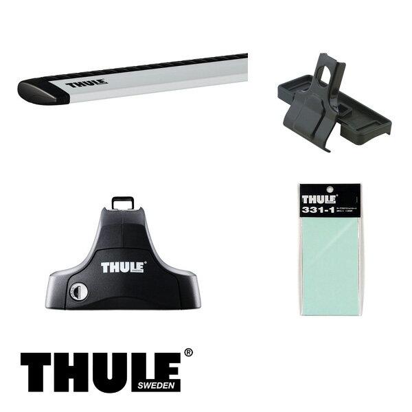 THULE/スーリー ランサーエボリューション 4ドア セダン VII VIII IX H13/2~ CT9A キャリア 車種別セット/754+969+1239