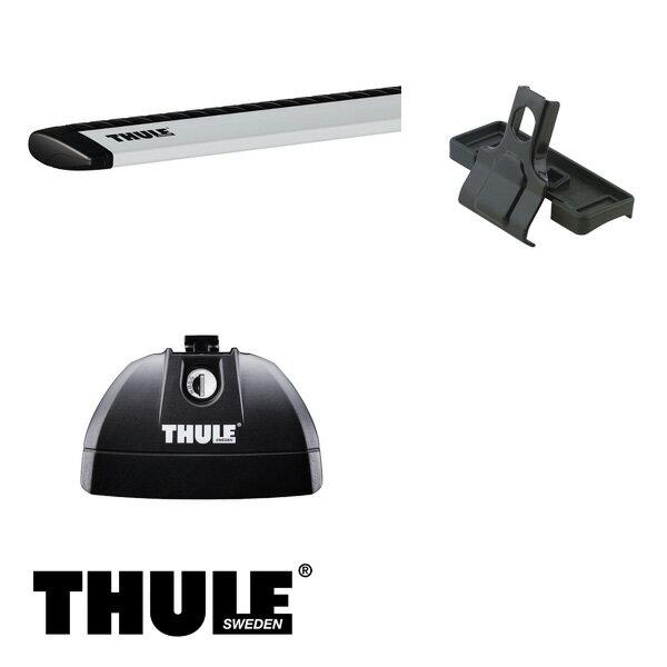 THULE/スーリー ランドローバー ディスカバリー3 ルーフレールベース付 '05~ LA40A,LA44 キャリア 車種別セット/753+969+3027