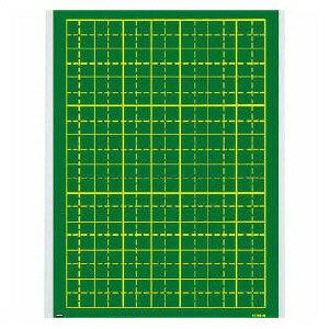【ウチダ】 作文指導用黒板 マグネットシート式 110mmます、10字×7行 us8-616-6022532P17Sep16