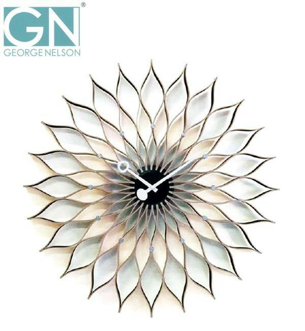 【送料無料】George Nelson ジョージ・ネルソン 壁掛け時計 サンフラワー・クロック GN304:02P03Dec24