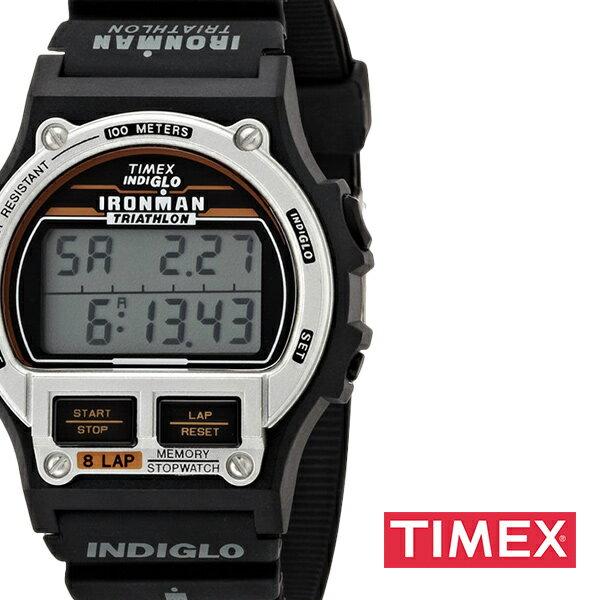 【正規品】【5年延長保証】 タイメックス腕時計 [ TIMEX時計 ] 復刻版 アイアンマン トライアスロン 8ラップ 1986エディション ( Ironman Original Edition 1986 ) メンズ グレー T5H961-N [ ラバー ベルト 液晶 デジタル ブラック シルバー ]