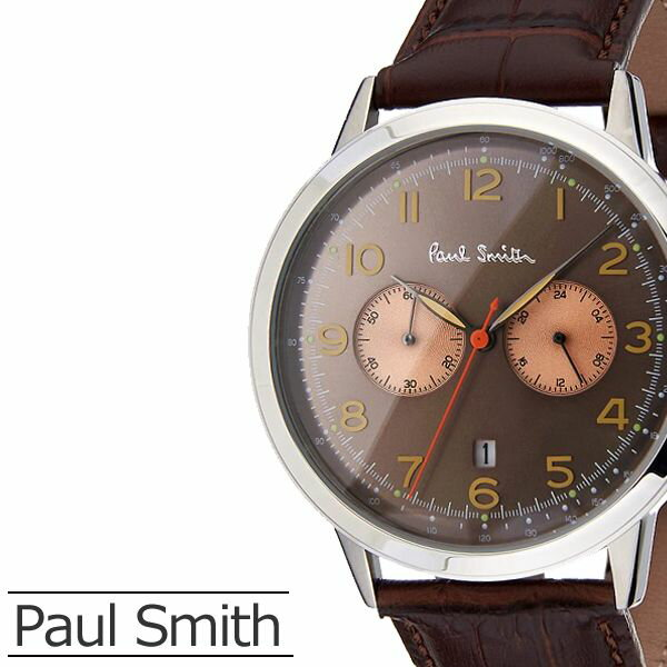 ポールスミス 腕時計 [ Paul smith 時計 ] プレシジョン [ PRECISION ] メンズ ブラウン P10013 [ 革 ベルト アナログ クロノグラフ シルバー ]