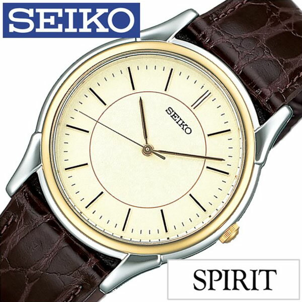 【5年延長保証】【正規品】 セイコー スピリット 腕時計 [ SEIKO SPIRIT 時計 ] メンズ ゴールド SBTB006 [ 革 ベルト 防水 ブラウン シルバー ゴールド プレゼント ]