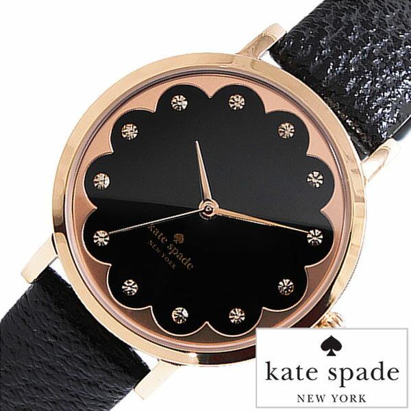 ケイトスペード 腕時計 [ kate spade 時計 ] メトロ [ Metro ] ブラック 1YRU0583 [ ブランド レザー 革 かわいい クリスタル ピンク ゴールド ]