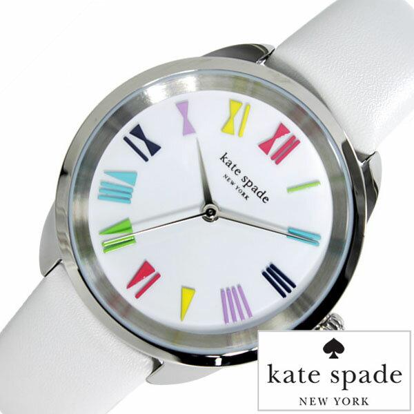 ケイトスペード 腕時計 [ kate spade 時計 ] クロスタウン [ CROSS TOWN ] ホワイト KSW1092 [ ブランド レザー 革 かわいい シルバー ]