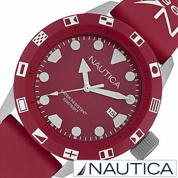 【5年延長保証】 ノーティカ 腕時計 [ NAUTICA 時計 ] メンズ レッド NAI09510G [ 正規品 人気 ブランド トレンド シリコン ベルト ]