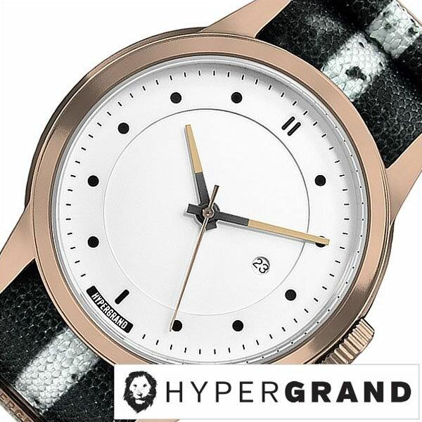 【5年延長保証】 ハイパーグランド 腕時計 [ HYPER GRAND時計 ]( HYPER GRAND 腕時計 ハイパーグランド 時計 ) マーベリック シリーズ ナトー メンズ 腕時計 ホワイト NWM4RUNW [ 正規品 人気 ブランド トレンド ナイロン ベルト ピンクゴールド プレゼント ギフト ]