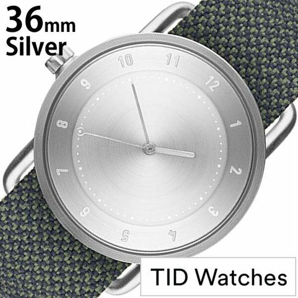 ティッドウォッチズ 腕時計 メンズ レディース 男女兼用 [ TID watches ] シルバー TID02-SV36-PINE [ No.2 正規品 おしゃれ 北欧 シンプル 革 レザー バンド シルバー ]