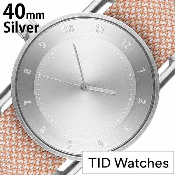 ティッドウォッチズ 腕時計 メンズ レディース 男女兼用 [ TID watches ] シルバー TID02-SV40-SALMON [ No.2 正規品 おしゃれ 北欧 シンプル 革 レザー バンド シルバー ]