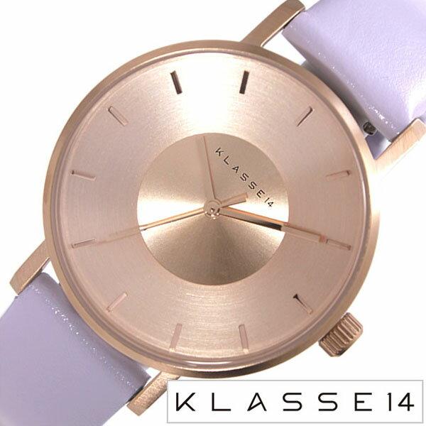 クラス14 腕時計 [ KLASSE14 時計 ] クラスフォーティーン ヴォラーレ [ VOLARE IRIS MARIO NOBILE ] レディース ピンクゴールド [ 人気 ブランド 防水 レザー ベルト 革 パープル ]
