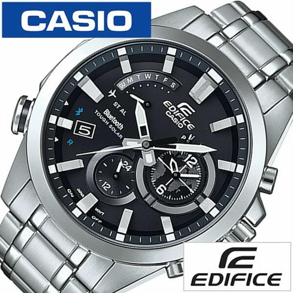 【正規品】【5年延長保証】 カシオ 腕時計 [ CASIO時計 ]( カシオ 時計 ) エディフィス ( EDIFICE ) メンズ ブラック EQB-510D-1AJF [ メタル ベルト タフ ソーラー 防水 Bluetooth SMART 対応 モデル シルバー ]