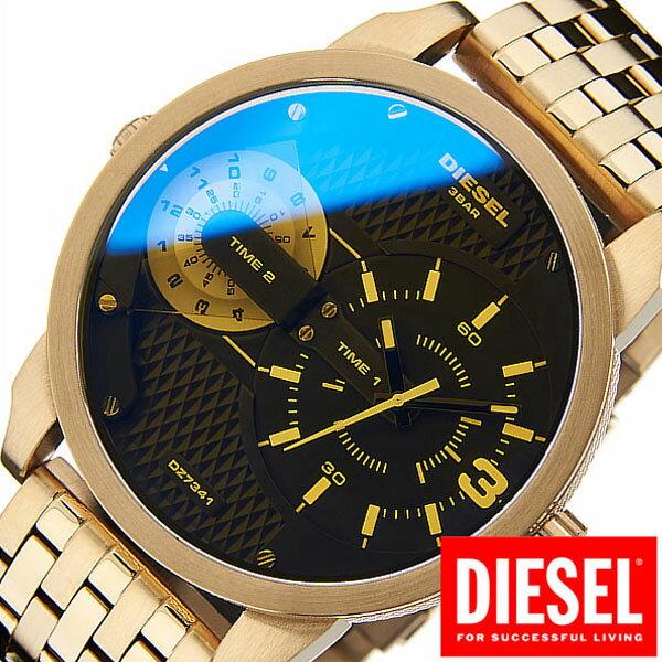 ディーゼル 腕時計 [ DIESEL 時計 ] ミニダディー [ Mini Daddy ] メンズ ブラック DZ7341 [ ブランド 防水 ファッション メタル ベルト 偏光ガラス ゴールド ビックフェイス ]