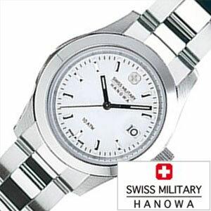 【5年延長保証】スイスミリタリー ハノワ 腕時計 [ SWISS MILITARY HANOWA 時計 ] エレガント ( ELEGANT ) レディース ホワイト ML-102 [ 正規品 人気 スイス 防水 プレゼント  メタル シルバー  ]