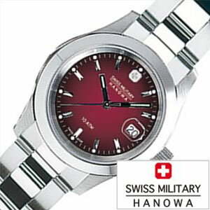 【5年延長保証】スイスミリタリー ハノワ 腕時計 [ SWISS MILITARY HANOWA 時計 ] エレガント ( ELEGANT ) レディース ボルドー ML-182 [ 正規品 人気 スイス 防水 プレゼント  メタル シルバー  ]