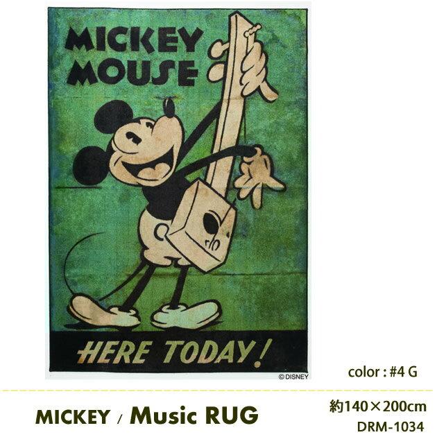 DISNEY ミッキー ミュージック ラグマット 日本製 防ダニ 耐熱加工ディズニー マット Disney スミノエ ラグマット ディズニープレミアムコレクション ラグマット 約140cm×200cm Disney MICKEY Music RUG DRM-1034[送料無料][代引不可] 新生活 引越
