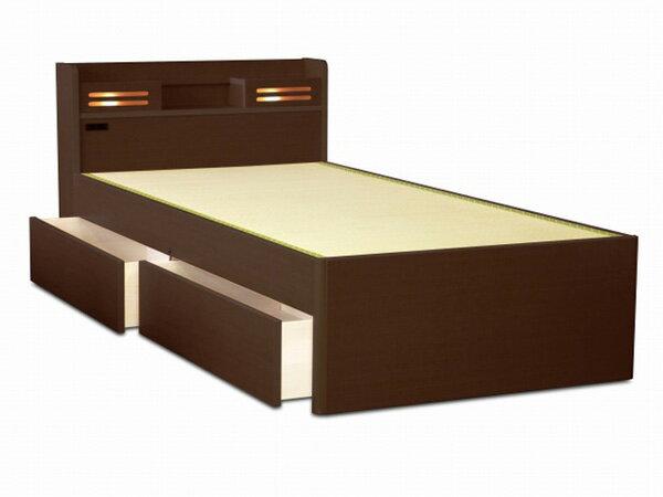 アンネルベッド【送料無料】畳ベッド キキョウ 桔梗CT シングルベッド たたみベッド棚照明付き 1口コンセント装備 新生活 引越