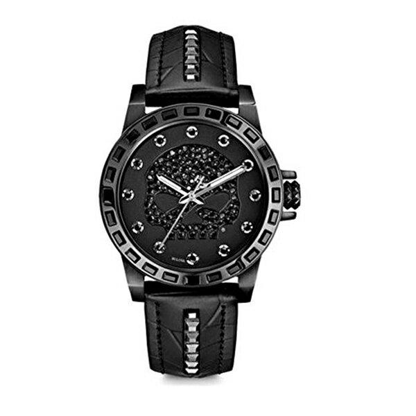 ハーレーダビッドソン Harley-Davidson Harley Davidson 腕時計 時計 Harley-Davidson Women's Black Stainless Steel Watch | Willie G Skull | Swarovski Crystals