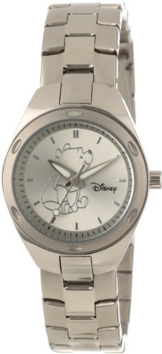 Disney ディズニー プーさん レディース腕時計 Women's W000492 Winnie The Pooh Stainless Steel Bracelet Watch