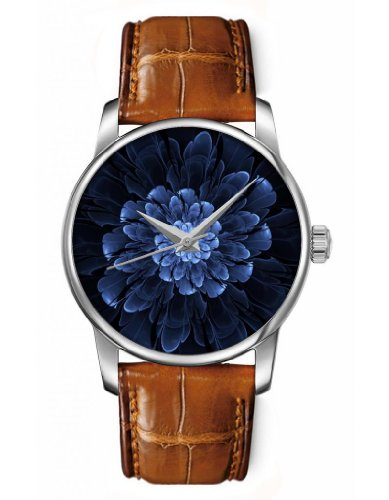 OOFIT レディース腕時計 Casual Analog Wrist Watch with Blooming Flowers for Ladies and Women