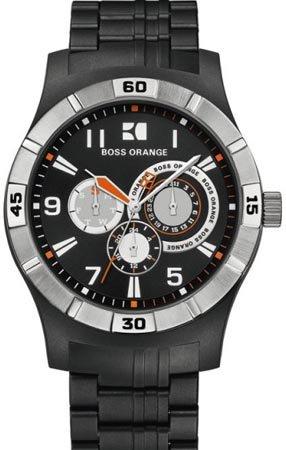 ヒューゴ・ボス ヒューゴ・オレンジ メンズ 腕時計 BOSS ORANGE Black Resin Mens Watch 1512535