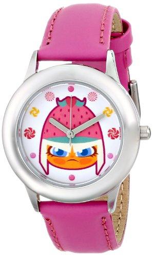 ディズニー 腕時計 キッズ 時計 子供用 シュガーラッシュ タフィタ Disney Kids' W000444 Tween Wreck-It Ralph Stainless Steel Peach Leather Strap Watch