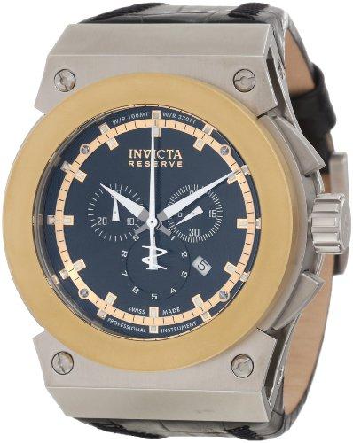 インビクタ 時計 インヴィクタ メンズ 腕時計 Invicta Men's 10951 Akula Reserve Chronograph Black Textured Dial Watch