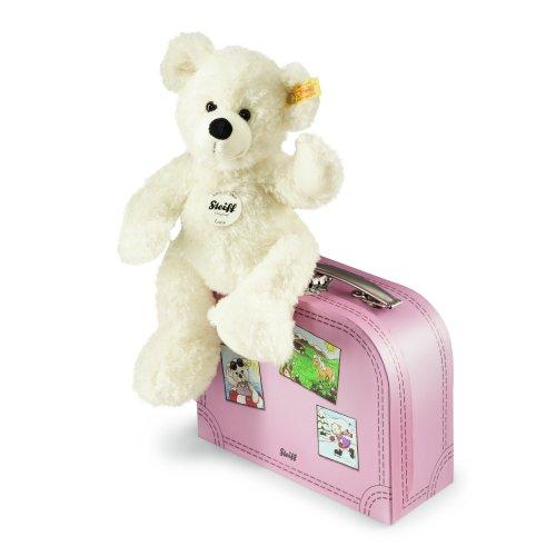Steiff  111563 シュタイフ ぬいぐるみ テディベア スーツケース Lotte Teddy Bear in Suitcase (White)