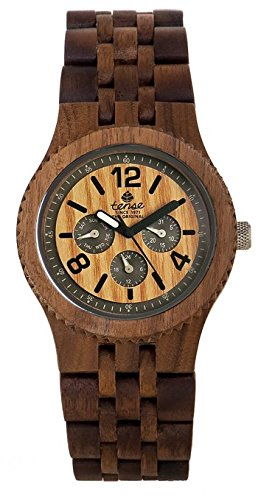 テンス 時計 腕時計 木製 Tense Adventure Vernon Triple Dial Multifunction Walnut Wood Jumbo Watch J5203W
