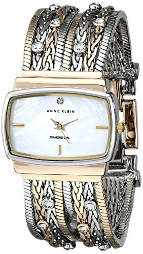 アンクライン ブレスレット アクセサリー Anne Klein Women's 109271MPTT Swarovski Crystal Accented Two-Tone Multi-Chain Bracelet Watch
