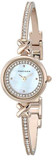 アンクライン 時計 レディース 腕時計 Anne Klein Women's AK/1688MPRG Swarovski Crystal Accented Rose Gold-Tone Bangle Watch
