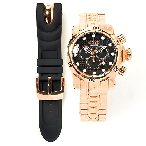 インビクタ 時計 インヴィクタ メンズ 腕時計 InvictaWatch Mens Reserve Venom High Polish Rose Gold Stainless Steel & Rubber Watch 13891