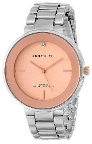 アンクライン 時計 レディース 腕時計 Anne Klein Women's Silver-Tone Diamond-Accented Bracelet Watch