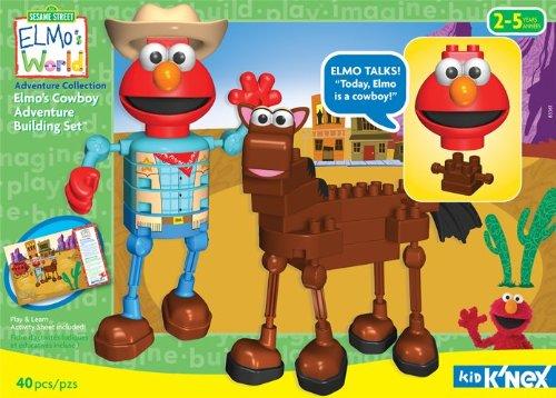 ケネックス ブロック おもちゃ セサミストリート エルモ カウボーイ アドベンチャー ビルディングセット Kid K'Nex - Elmo's Cowboy Adventure Building Set