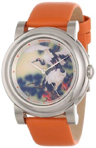 インヴィクタ インビクタ 腕時計 レディース 時計 Invicta Women's 12131 Angel Beige with Bird Image Dial Orange Leather Watch