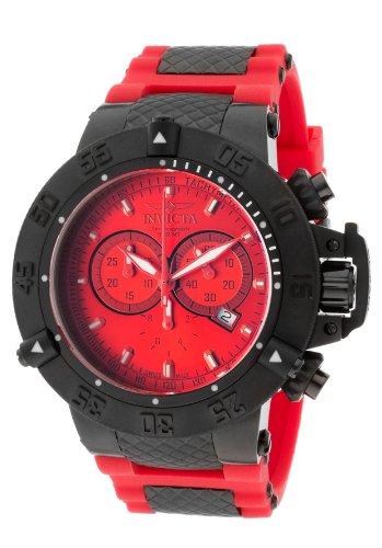 インヴィクタ インビクタ 腕時計 メンズ 時計 Invicta Men's 11842 Subaqua Noma III Chronograph Red Dial Red Silicone Watch