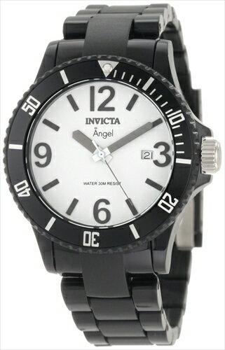 インヴィクタ インビクタ 腕時計 レディース 時計 Invicta Women's 1208 Angel White Dial Black Plastic Watch